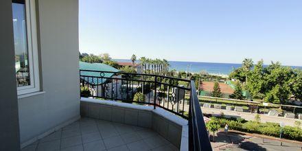 Utsikt från trerumslägenhet på hotell Havana Apart i Alanya Turkiet.
