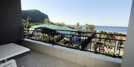 Utsikt från tvårumslägenhet på hotell Havana Apart i Alanya Turkiet.