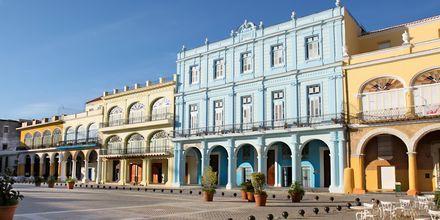 Plaza Vieja i Havanna.