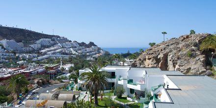Utsikt från Heliomar i Puerto Rico på Gran Canaria.