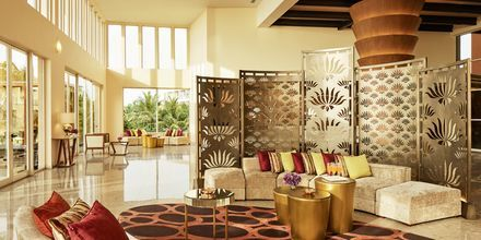 Lobby på hotell Heritance Negombo på Sri Lanka.