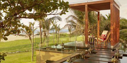 Hotellområdet på hotell Heritance Negombo på Sri Lanka.