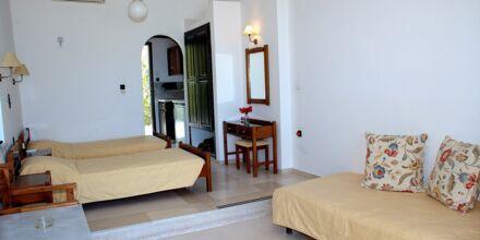 Enrumslägenhet på hotell Hermes i Kato Stalos, Kreta.