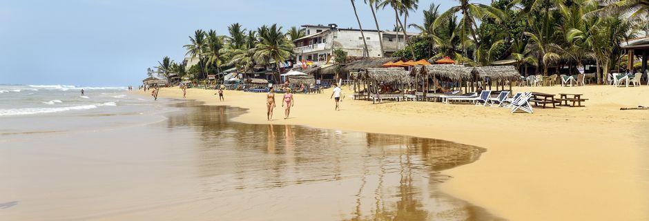 Hikkaduwa Beach i Sri Lanka.