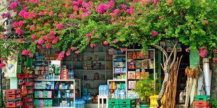 Butik i Hikkaduwa på Sri Lanka.