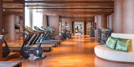 Gym på hotell Hilton Dubai al Habtoor City i Dubai.