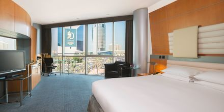 Dubbelrum på hotell Hilton Dubai Creek i Dubai, Förenade Arabemiraten.