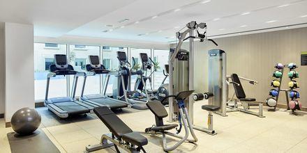 Gymmet på hotell Hilton Garden Inn Mall of the Emirates i Dubai Al Barsha i Dubai, Förenade Arabemiraten.