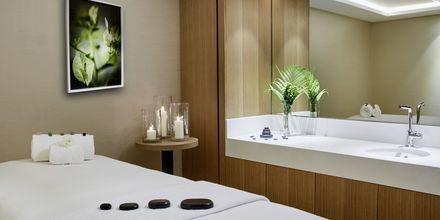 Spaanläggningen på hotell Hilton Garden Inn Mall of the Emirates i Dubai Al Barsha i Dubai, Förenade Arabemiraten.