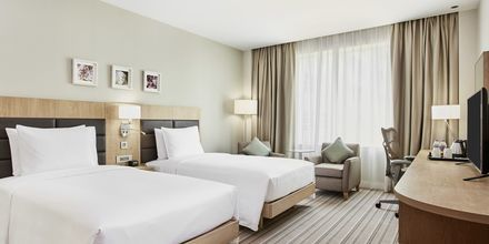 Dubbelrum på hotell  Hilton Garden Inn Mall of the Emirates i Dubai Al Barsha i Dubai, Förenade Arabemiraten.