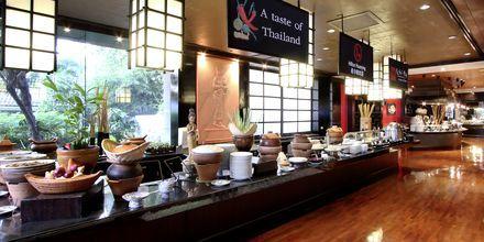 Frukostbuffé på Hua Hin Hilton Resort & Spa, Thailand.