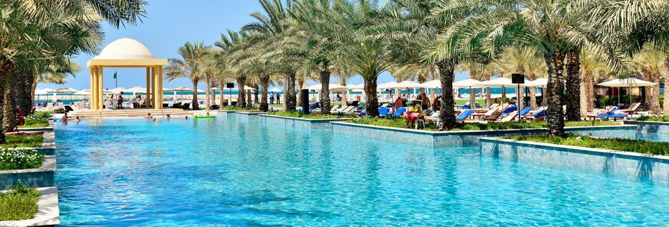 Poolområde på hotell Hilton Ras Al Khaimah Resort & Spa.