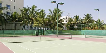 Tennisbana på Hilton Salalah Resort, Oman.