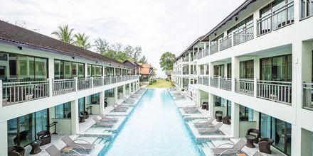 Dubbelrum med poolutsikt på Hive Khaolak Beach Resort, Thailand.