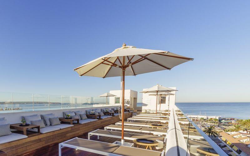Härlig takpool på HM Alma Beach, Ca'n Pastilla, Mallorca.