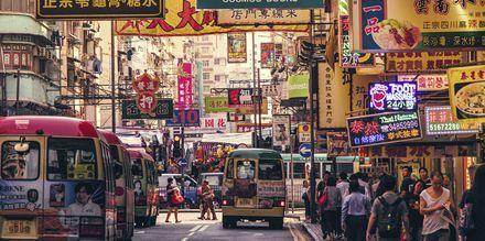 Hong Kong i Kina - ett myllrande resmål.