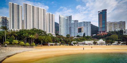 Stranden i Repulse Bay, Hong Kong, Kina.