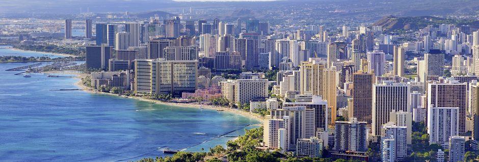 Honolulu är både Hawaiis största stad och huvudstad.