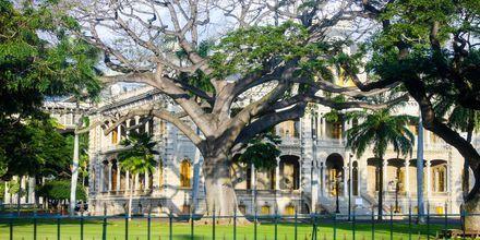 I Honolulu ligger USAs enda kungliga slott - Iolani Palace.