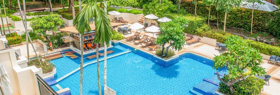 Pool på Horizon Karon Beach Resort Club Wing, Phuket, Thailand.