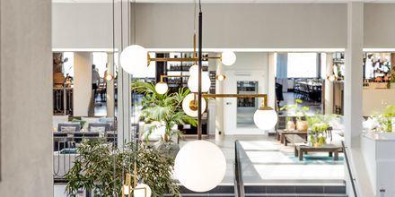 Lobbyn på hotell Riviera Strand i Båstad.