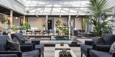 Mysig lounge på hotell Riviera Strand i Båstad.
