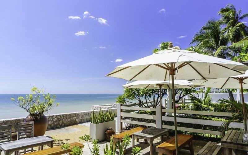 Stranden i Hua Hin i Thailand.