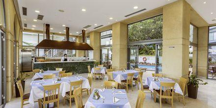 Restaurangen på hotell Ibiscus i Rhodos stad, Grekland.