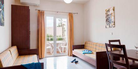 Tvårumslägenhet på hotell Ideal Beach på Kreta, Grekland.