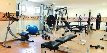Gym på hotell Ideal Beach på Kreta, Grekland.