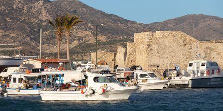 Hamnen i Ierapetra på Kreta, Grekland.