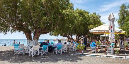 Ät gott på stranden i Koutsounari på Kreta i Grekland.