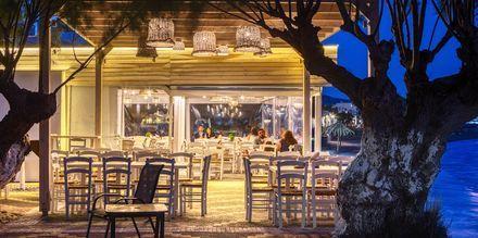 Restaurang i Ierapetra på Kreta, Grekland.