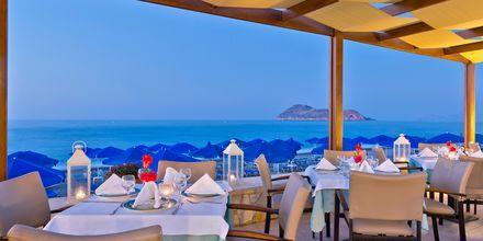 Restaurang på hotell Indigo Mare, Platanias.