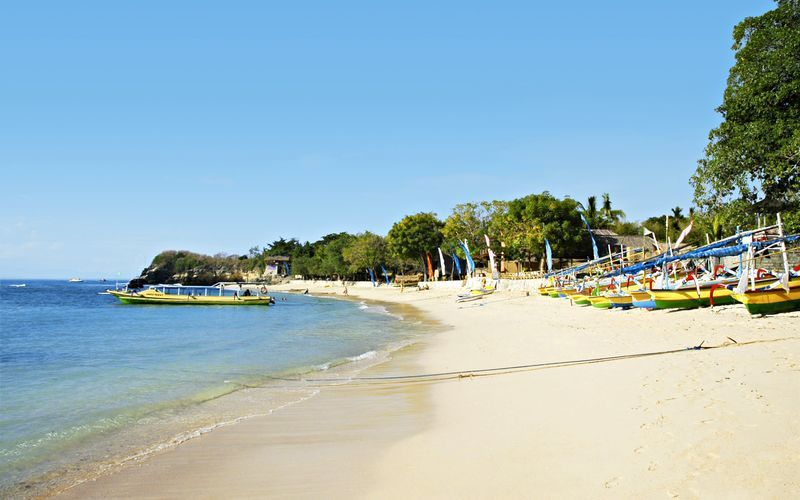Stranden i Tanjung Benoa.