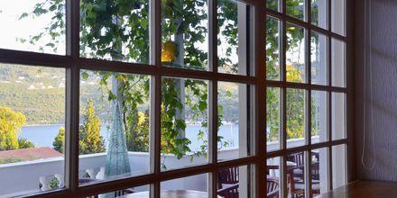 Restaurangen på hotell Ino Village på Samos, Grekland.
