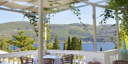 Restaurangen på hotell Ino Village utanför Samos stad.