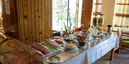 Frukost på hotell International på Kos, Grekland.