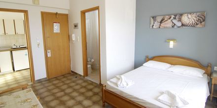 Enrumslägenhet på hotell International på Kos, Grekland.