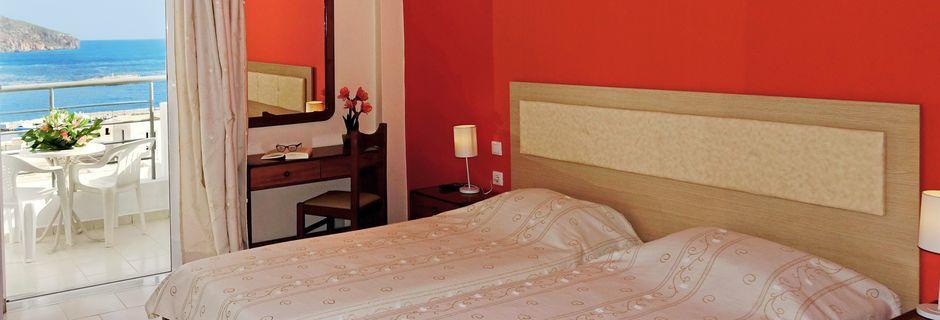 Dubbelrum på hotell Iolkos, Karpathos.