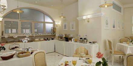 Frukostmatsalen på hotell Ionia Suites i Rethymnon på Kreta.