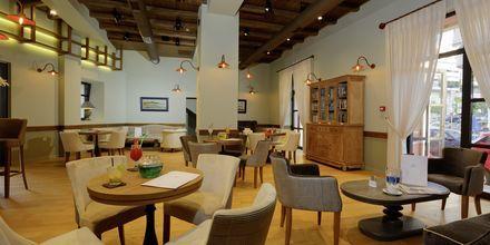 Lobbyn på hotell Ionia Suites i Rethymnon på Kreta.