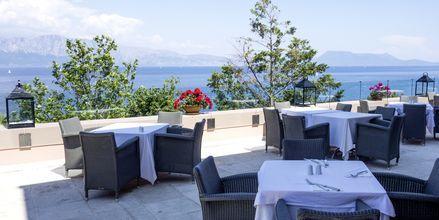 Restaurang på hotell Ionian Blue på Lefkas, Grekland.