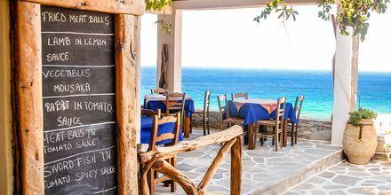 Strandcafé på Ios, Grekland.