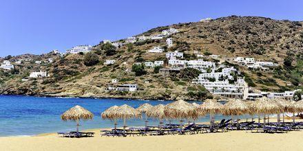 Mylopotas-stranden på Ios, Grekland.