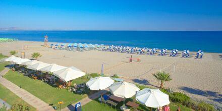 Stranden vid hotell Iperion i Rethymnon, Kreta.