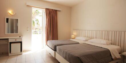 Tvårumslägenhet på hotell Irina Beach i Tigaki på Kos, Grekland.