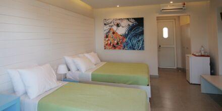 Dubbelrum på hotell Irina Beach i Tigaki på Kos, Grekland.