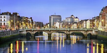 I Dublin rinner floden Liffey.