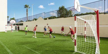 Fotboll på hotell Isabel i Playa de las Americas på Teneriffa.
